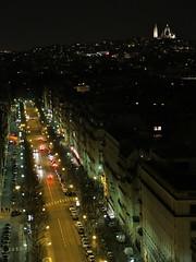 Paris (teiteitei) Tags: paris france night lights boulevard montmartre sacrecoeur nighttime arcdetriomphe