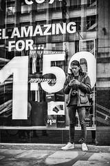 Photos 1:50 each (tootdood) Tags: blackandwhite window shop manchester photographer photos piccadilly each fromthehip 150 streetcandid shootingtheshooter canon70d