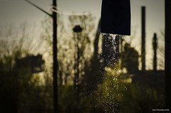 Leakage. Windsor, ON. (Pat86) Tags: sunset water droplets drops pipe windsor photooftheday