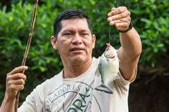 Amazon rain forest Peru - pirana fishing (arthur.harrow) Tags: amazonbasin riomadrededios puertomoldonado rainforest javier pirana haciendaconception southamerica peru inkaterra