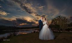 Sunset at the wedding (Geoff Mock) Tags: wedding lake groom bride nikon outdoor topaz tokina1116mm nikond7000 sb910 sylenlakes