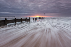 Distant Light (Calum Gladstone) Tags: seascape beach sunrise movement blyth leefilters canon6d