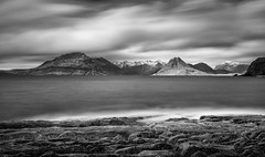 Different Layers of Skye. (ant0191) Tags: longexposure sea blackandwhite mountains clouds mono scotland rocks isleofskye slowshutter elgol slowwater theblackcuillin leegraduatedfilter littlestopper nikond750