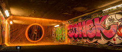 The Sonek Portal (dattenphotos) Tags: street art wool night underground graffiti steel tunnel colourful