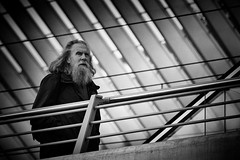 Coming from ... (kitchou1 Thanx 4 UR Visits Coms+Faves.) Tags: world street people bw architecture season landscape spring europe cityscape exterior belgium nb trainstation printemps saison