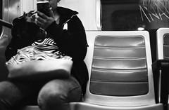 Metro's loneliness, Madrid (Riccardo Nobile Photos ) Tags: madrid blackandwhite espaa white film me contrast analog subway mono spain loneliness metro pentax kodak top sub trix capital tube streetphotography style super 400 biancoenero spagna monocrome 2016 pellicola kodad riccardonobile