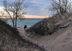 Plage Sundbank, On. (monilague) Tags: park county trees sunset sky beach evening soleil coucher sable prince edward ciel soir arbre plage scrub sandbanks sans provincial arbuste