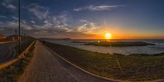 CAMINOS (Emilio Rodrguez lvarez) Tags: sea panorama espaa sun color sol canon way mar spain corua camino tokina galicia cielo 7d puesta 1116 portio