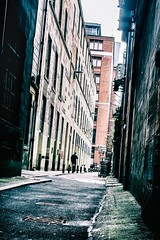 Life in the big city. (Mister G.C.) Tags: street streetphotography candid photograph image people unposed color colour coloured colored farbe urban town city alley alleyway sidestreet backstreet alone gritty grunge decay dutchangle single person sonya6000 sonyalpha6000 sony a6000 mirrorless sigma 30mmf28dn 30mm primelens strassenfotografie mistergc scotland uk unitedkingdom gb greatbritain