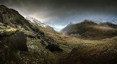 Pen-Y-Pass, Wales  08/01/2016 (Matthew Dartford) Tags: cloud mountain snow wales landscape moody bokeh valley snowdonia penypass atmospheric happisburgh snowcap