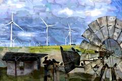 Windustry  an old idea made new (SolanoSnapper) Tags: windmill northerncalifornia windturbine hss solanocounty shilohwindfarm sliderssunday happysliderssunday ancientmodernity artmuseion challengescommunitygroup