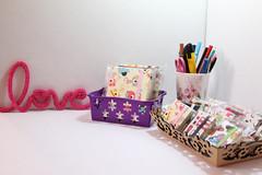 Blocos de Anotaes e Chaveiros de Post -it (Bella Mia Ateli) Tags: feitomo postit papelaria chaveiros cartonagem blocosdeanotaes papelariaartesanal