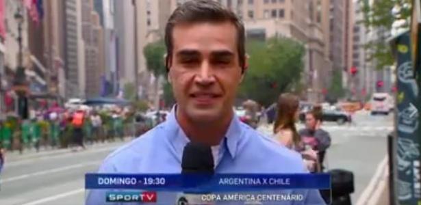 Repórter do SporTV interrompe link e chama táxi para desconhecida