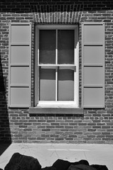 Genoa, Nevada, 2016 (matt-artz) Tags: blackandwhite bw brick window nevada bricks genoa shutters