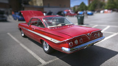 Impala (jhary) Tags: holiday downtown sunday carshow macon bokehpano brenizermethod sonya7s canonfd85l12