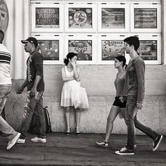 waiting for someone (Gerard Koopen) Tags: street people blackandwhite bw woman girl 35mm waiting fuji candid cuba streetphotography fujifilm cienfuegos straat 2016 straatfotografie xpro1 gerardkoopen
