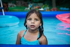 Blank (This_is_JEPhotography) Tags: family cute water pool girl field swimming ga georgia outdoors nose eyes holding pretty dof little bokeh andrea sony niece adobe depth floats slt lightroom a77 georiga