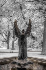 Angel of the Garden (JMD Pix) Tags: mobot angel infrared bronze white summer stlouis stl inspiring beautiful hdr botanical inspirational color spring cemetery