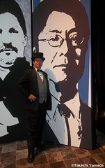 The Immortalizer Dr. Takeshi Yamada with Seara (sea rabbit) in front of his giant size portrait (stage set) of Immortalized in Los angels, California on November 20, 2012. (searabbits23) Tags: ca ny newyork sexy celebrity art hat fashion animal brooklyn asian coneyisland japanese star tv google king artist dragon god vampire famous gothic goth uma ufo pop taxidermy vogue cnn tuxedo bikini tophat unitednations playboy entertainer oddities genius mermaid amc mardigras salvadordali performer unicorn billclinton billgates aol vangogh curiosities sideshow jeffkoons globalwarming mart magician takashimurakami pablopicasso steampunk losangels damienhirst cryptozoology freakshow leonardodavinci realityshow seara immortalized takeshiyamada roguetaxidermy searabbit barrackobama ladygaga climategate