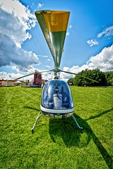 Heli (shuttermaniac75) Tags: blue sky green clouds plane military wide wideangle helicopter hdr heli