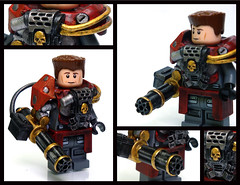 ANIKETOS (More view) ([N]atsty) Tags: red hammer wow skull gold amazing blood marine war gun lego arm fig space awesome best ama mounted figure warhammer minifig armory drybrush minigun brickarms aniketos