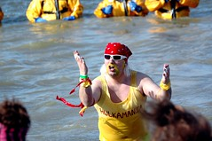 HULKAMANIA (kennethkonica) Tags: winter people usa men green water face sunglasses yellow scarf fun outdoors women skin indianapolis freezing indiana ground shades nikond70s gloves activity hulkhogan bellybutton hoosiers polarbearswim wettanktop thepolarplunge thespecialolympics