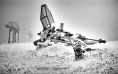 Taking Care of Business (urbiefoto) Tags: project fun starwars nikon lego minifig nikkor tethered atat diorama legostarwars hoth cs4 77mm nikkor2470mm viveza2 sofortbilt silvereffectspro2