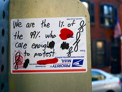 We are the 1% who care (-Curly-) Tags: streetart art graffiti sticker stickerart curly ows occupy occupywallstreet occupyphilly