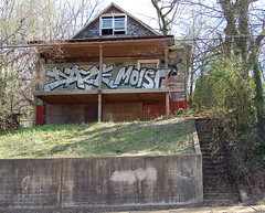 DAZE / MOIST/CRIBS (daze tn) Tags: street graffiti hands birmingham tn alabama spraypaint alphabet bombing daze throwup moist fuckthepolice nsa throwie graffitialphabet dazetn graffitiabc