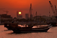 Praise the day at sunset (puthoOr photOgraphy) Tags: boat dk doha qatar dhow lightroom westbay dohaqatar d90 adobelightroom nikond90 lightroom3 amazingqatar puthoor arabianship gettyimagehq puthoorphotography