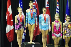 Rhythmic Gymnastics Medal Ceremony, Elite Canada Championships, Centre Pierre Charbonneau, Sony A55, Minolta 135mm Lens, Montreal, 4 March 2012   (45) (proacguy1) Tags: montreal gymnastics rhythmic centrepierrecharbonneau minolta135mmlens sonya55 4march2012 elitecanadachampionships rythmicgymnasticsmedalceremony