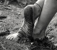 Barefoot forest walk (Barefoot Adventurer) Tags: bw forest woodland walking blackwhite hiking earth walk barefoot barefeet soles muddy barefooted barfuss muddyfeet barefooting dirtyfeet dirtysoles barefoothiking barefooter baresoles toughsoles wrinkledsoles muddysoles