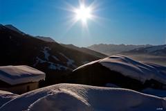 Plein les yeux (Yvan l'07) Tags: france montagne soleil arc neige savoie mfcc paysagelatuile