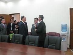 Lui Peng Presidente del Comité Olimpico de China y Ministro del deporte de China en reunión con Juan Carlos Ramirez