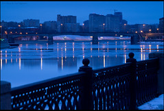 Moscow. Novospassky bridge. (Yuri Degtyarev) Tags: city bridge night zeiss river lens t photography photo moscow sony tripod mc carl soviet m42 yuri alpha russian sonnar slik  jupiter9 cokin     852 nd8 pseries novospassky degtyarev 121s gnd8 p121s   9 42 vf49ndam 9