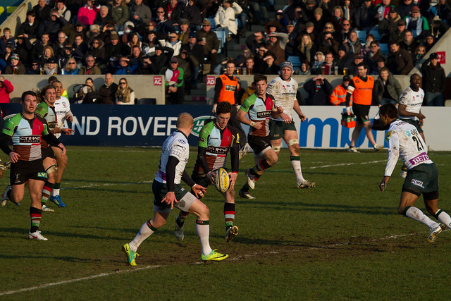 Tom Williams kick through for Ross Chisholm to score