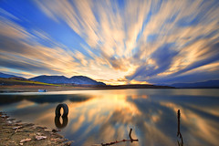 Eight (Explored) (Nick-K (Nikos Koutoulas)) Tags: sunset lake nikon greece filter 400 nd f4 hoya  1635mm   kozani   kranidia