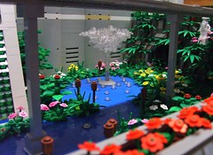 Eden-13 fountain (S.L.Y) Tags: abandoned fountain garden lego diorama