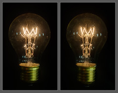 Light Bulb (cross-eye 3D) (svenpetersen1965) Tags: light 3 lamp bulb 3d crosseye tungsten filament dimensional incandecent hdr3px