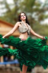 A Swirl Of Skirts (wyojones) Tags: woman usa motion cute green girl beautiful beauty look festival fur belt kat pretty texas dancers katia makeup bellydancer lips trf greeneyes belly faire redlips freckles earrings brunette lovely fest gypsy bellybutton navel renaissance renfest midriff texasrenaissancefestival toddmission gypsydancetheatre gypsybeauty gypsydancetheater wyojones