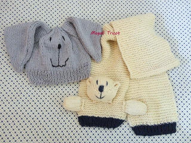 Peças para Ludmilla (Magali Tricot) Tags  animal tricot gorro infantil  bichos coelho animais 0eaa3c6bef5