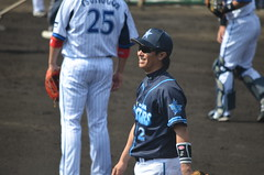 DSC_0758 (mechiko) Tags: 横浜ベイスターズ 120212 渡辺直人 横浜denaベイスターズ 2012春季キャンプ