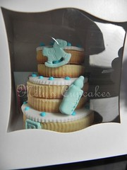 Cookies cake (Mily'sCupcakes) Tags: boy baby argentina cookies its shower cupcakes buenos aires cupcake wrapper milys