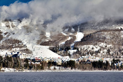 Mont Tremblant, Quebec (Artur Staszewski) Tags: from trees winter vacation lake snow canada ski water canon frozen is lift quebec snowy montreal hill north tourist resort hills resting hotels usm relaxation resorts tremblant mont attraction t2i 1585mm