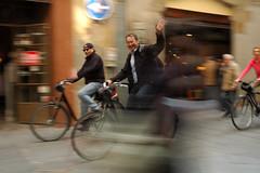 Radfahrer Altstadt Barcelona