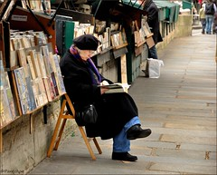 Paris : The bookseller on the quay  :  Explore    #153 (Pantchoa) Tags: paris france nikon quay explore quai streetshot bookstall bookseller booksellers bouquiniste robado d90 photovole secondhandbookseller quaidesgrandsaugustins pantchoa