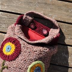 Crochet: Autumn Poppys Handbag (inside) (Kiwi Little Things) Tags: handmade crochet purse handbag poppys