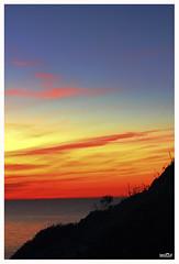 "Sunset on the sea (aziouezmazouz) Tags: sunset sea nature ngc vivid bellissima vibrantcolours natureselegantshots panoramafotográfico ""flickraward"" vividstriking theoriginalgoldseal"