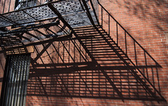 DSC_5369D80  Fire Escape - Boston  ©2012 (Paul Light) Tags: shadow boston massachusetts bricks brickwall fireescape