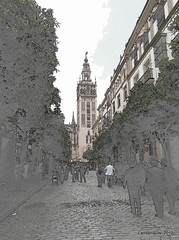 La Giralda (Landahlauts) Tags: sevilla andaluca seville andalucia andalusia andalusien sville andalousie andalusie andaluz siviglia sevillano alandalus  andaluzia   hispalense  andaluzja  sewilla andaluzio           isbiliya                  andalouzia andalusiya      ishbiliya capitaldeandalucia